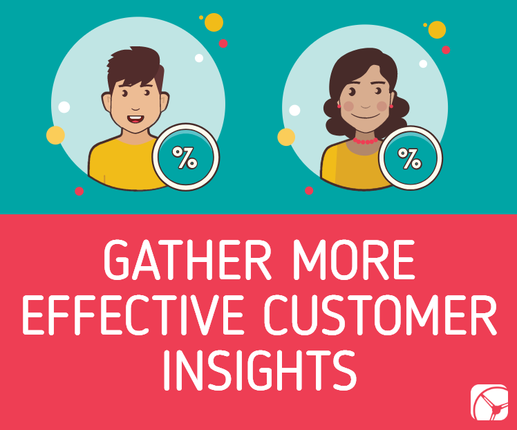 gather more effective customer insights | man and woman with percentage signs