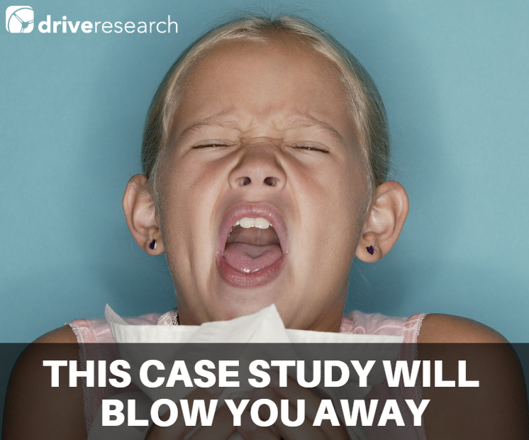 case study for cold product manufacturer | girl sneezing