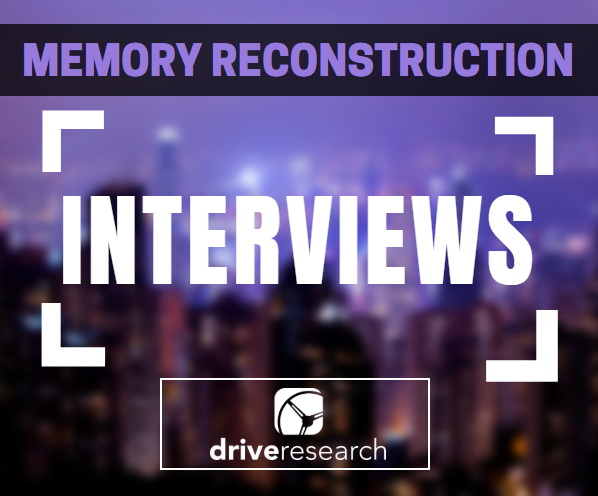 memory reconstruction interviews | blurred out city landscape