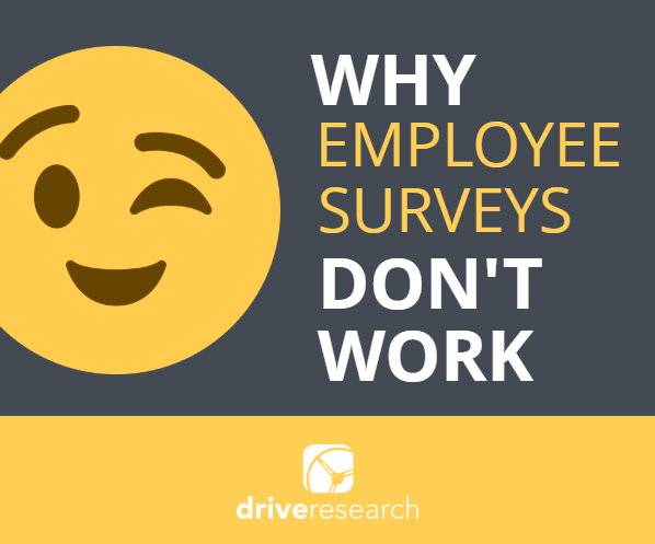 why employee survey don't work | wink face emoji