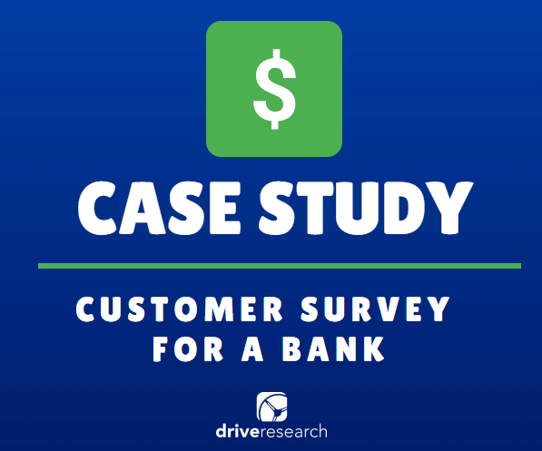 case study - customer survey for a bank - green square with dollar sign