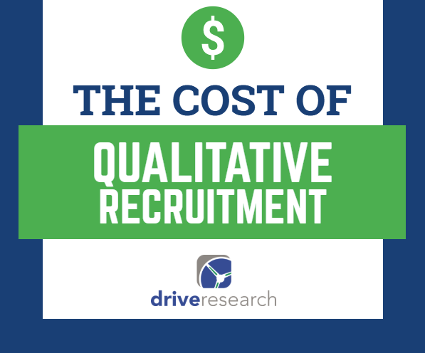 the cost of qualitative recruitment | money symbol
