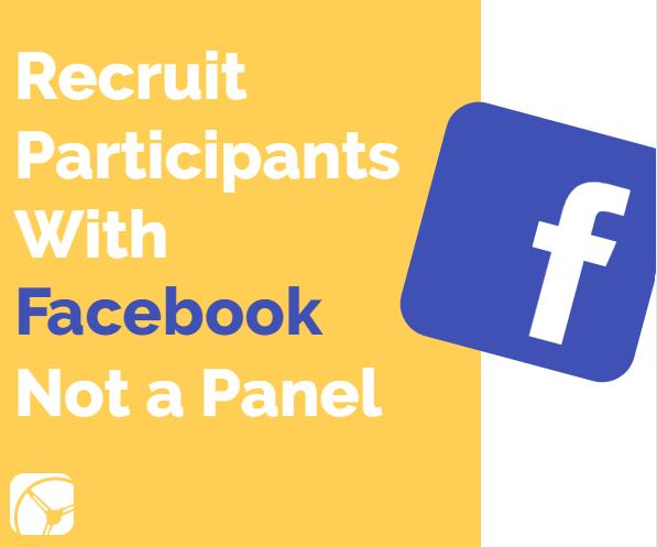 Recruit Participants With Facebook Not a Panel | Facebook logo