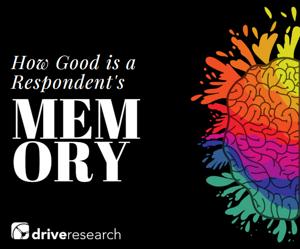 Behavioral Data vs. Online Surveys | How Good is a Respondent's Memory? | Drive Research
