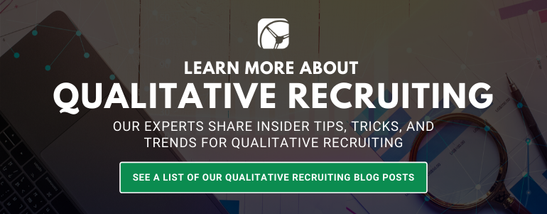 qualitative recruiting blogs posts by drive research