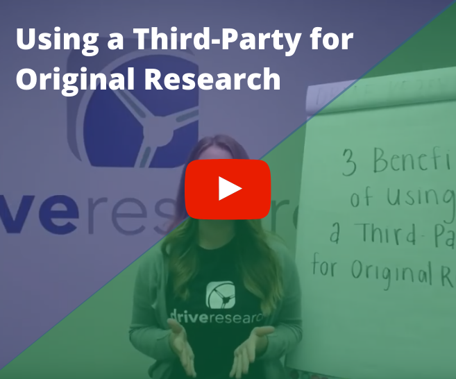 Video: Using a third party for original research