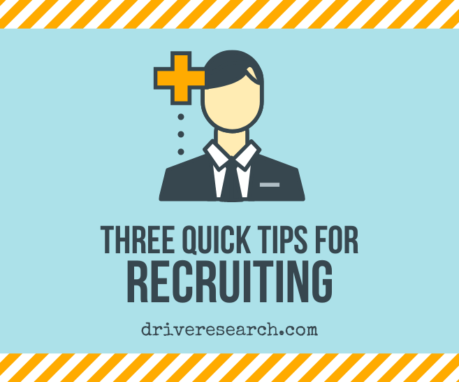 3 Quick Tips for Market Research Recruiting