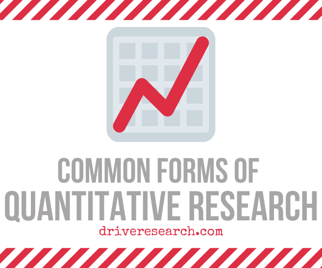 Common Forms of Quantitative Research | Market Research Firm Albany, NY