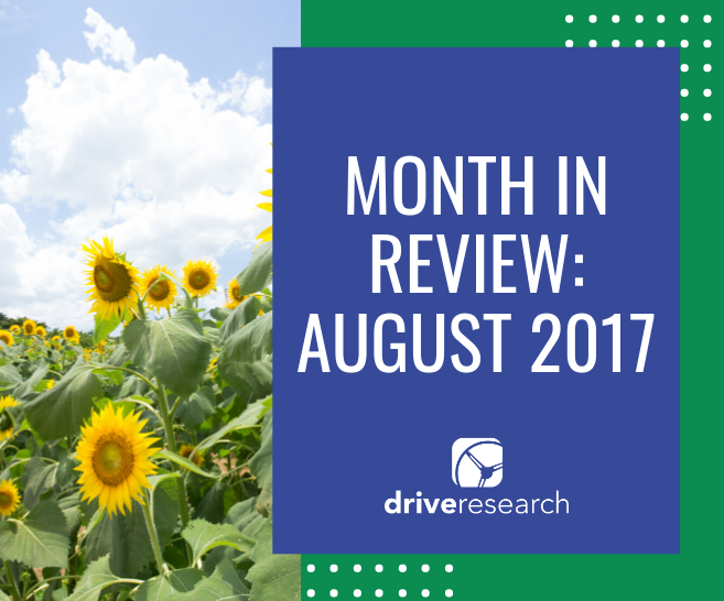 Month in Review: August 2017