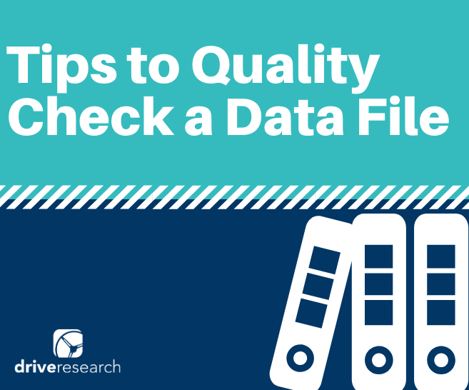 4 Basic Tips to Quality Check a Data File in Market Research