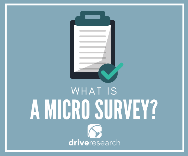 what is a micro survey market research