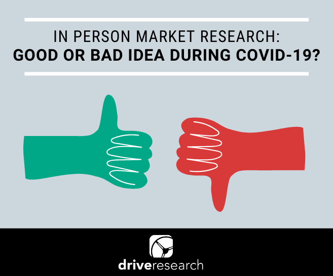 Blog: In-person market research: Good or Bad Idea During Covid-19?