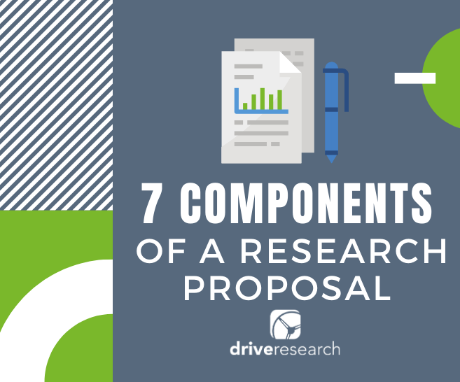 components of market research proposal