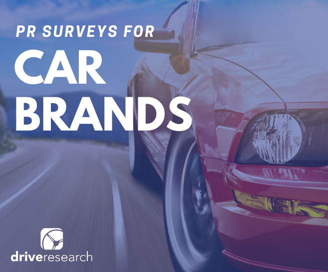 Image for Blog Post Home Page: PR Surveys for Car Brands | Red Car Driving on Highway