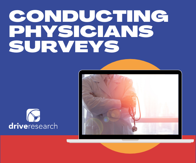 Blog: Conducting Physicians Surveys | Laptop with doctor crossing his arms