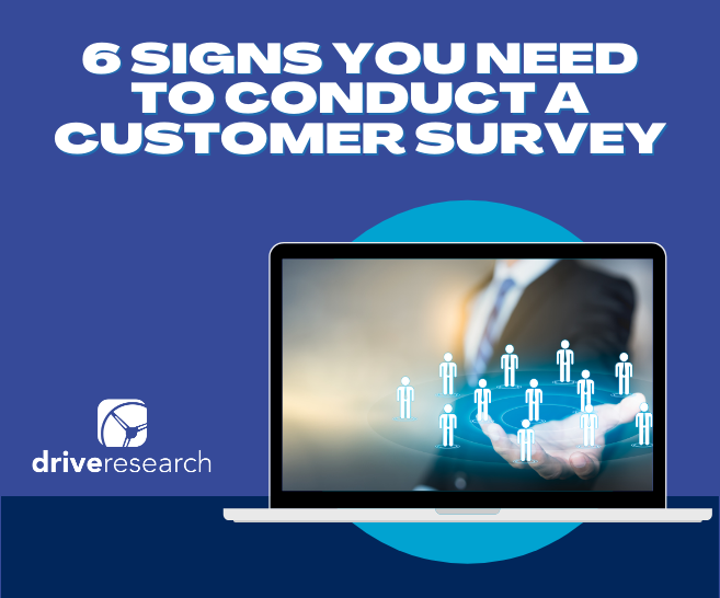 6 Signs You Need to Conduct a Customer Satisfaction Survey | Laptop with man in suit holding business people icons