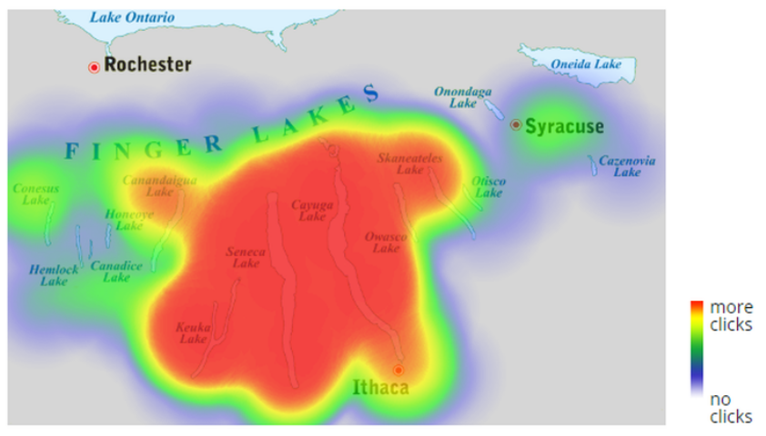 Example of a heat map image